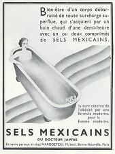 Publicité Sels  Mexicain  Medecine Pharmacie seins  Topless  ad  1934 - 6h