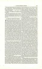 1864 Bengal Tiger Article India Animals Hunting with Elephants History