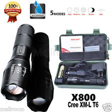 5000LM X800 Shadowhawk CREE T6 LED Flashlight Torch G700 Taschenlampen Lade Set