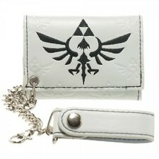 Nintendo Legend of Zelda Triforce Skyward Sword Hylian Crest White Chain Wallet