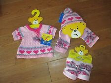 "New Build-A-Bear Lot Outfit & shoes, Dress III, HAT/SCARF, BOOT, 10"" to 24"", NWT"