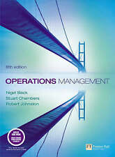 Operations Management by Johnston, Chambers, Slack. 5th Ed