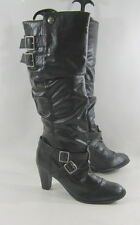 "NEW Blacks 3""high   Heel sides buckles sexy knee boots   .Size.    8"