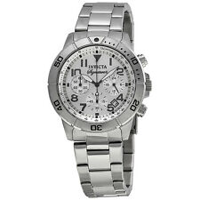 Invicta Signature II Chronograph Tachymeter Silver Dial Mens Watch 7350