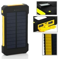 30000mAh Dual USB Portable Solar Battery Charger Solar Power Bank (Blk / Yellow)