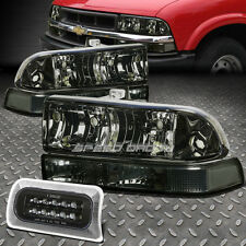 SMOKED HEADLIGHT+CLEAR BUMPER TURN+BLACK LED 3RD BRAKE LIGHT FOR 98-04 CHEVY S10
