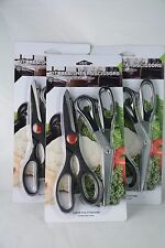 Black scissors Kitchen 6 pcs, cuchillos cocina, Steel Fish Chicken Bone Serrate