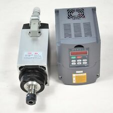 FOUR BEARING 4KW AIR-COOLED MOTOR SPINDLE AND MATCHING INVERTER DRIVE VFD CNC