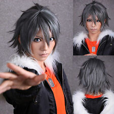 Akira Togainu no Chi Short Black Gray Hot Anime Cosplay Party Hair Full Wig