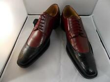 New Men's Liberty Leather Two Tone Dress Shoes Tan/Gray,Black/Burgundy, LS 821