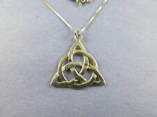 Sterling Silver Celtic Scottish Pendant with Sterling Chain 5.2g [1547]