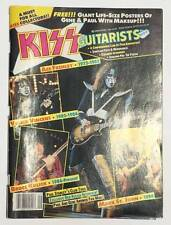 KISS Guitarists Magazine 1989 Rock Scene Ace Frehley Vinnie Vincent with Poster