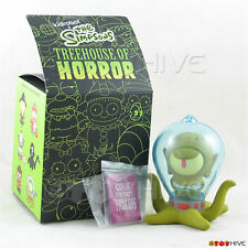 Kidrobot The Simpsons Treehouse of Horror - Alien Kang with book vinyl figure