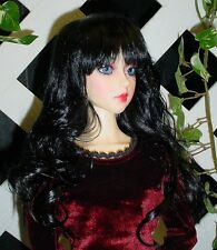 "Doll Wig, Monique Gold ""Sassy"" Size 5/6 in Off Black"