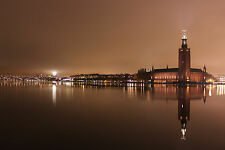 Lámina-Vintage Brown efecto de Estocolmo Suecia City Hall (imagen Arte)