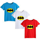 Summer Baby Boys Girls Clothing Fashion Batman Short sleeve Tops T-shirt 0~5Y