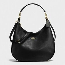 NWT COACH HARLEY HOBO IN PEBBLE LEATHER STYLE: F38259 COLOR BLACK