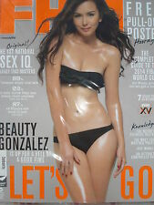 FHM Philippine Magazine BEAUTY GONZALEZ AUGUST 2014 Issue +FREE PULL-OUT POSTER