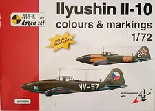 "IL-10 Colours & Markings, 1:72, Mark I. ""Dozen Set"" , Heft mit Decals *NEU*"