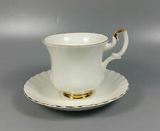 ROYAL ALBERT VAL D'OR COFFEE CUP AND SAUCER