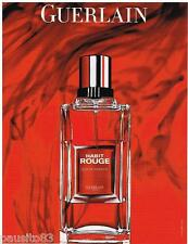 PUBLICITE ADVERTISING 095  2007  GUERLAIN  parfum homme HABIT ROUGE