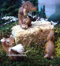 Miniature Playing Squirrel (Set of 3 Assorted) for Fairy Garden /Dollhouse MG177