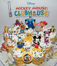 Disney Mickey Mouse Clubhouse Cake Toppers Set of 14 Figures, Ring and Keychain