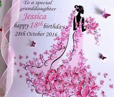 PERSONALISED  HANDMADE BIRTHDAY CARD  18TH 21ST 40th DAUGHTER SISTER FRIEND ETC