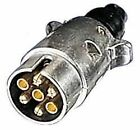 7 Pin METAL PLUG Towing Car Van Trailer Caravan 12V 12N