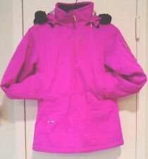 $178 Spyder Fuchsia Pink Insulated Girl's Hooded Ski Jacket Parka XL 16 XS 2