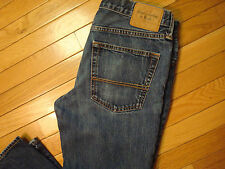 Abercrombie & Fitch A&F Slim skinny Leg Men's Blue Jeans Sz  34X32 button fly