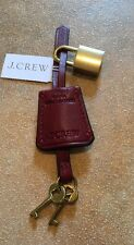 J.Crew Key Fob in Italian Leather - Dark Wine (NWT)