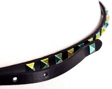 $34 Unbranded Women's Black Metallic Green Studded Spike Belt Skinny L