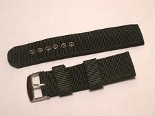 Nylon Fabric Military Strap - 22MM - Green - Fits Seiko Army Style Watches