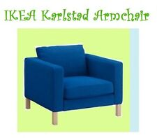 "IKEA Karlstad Korndal ""Medium"" Electric Blue Chair Cover Armchair Slipcover NEW"