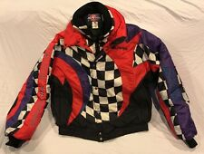 Vintage Polaris Indy Snowmobile Racing Jacket Coat Men's Size XL Checkered 90s