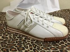 Y-3 YOHJI YAMAMOTO ADIDDAS WHITE LEATHER *LANCER* LOW TRAINERS/SNEAKERS SZ 12 US