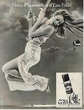 PUBLICITE ADVERTISING  1978    GUY LAROCHE  parfum EAU FOLLE