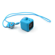 Telesin Blue Protective Pendent Case with Necklace Lanyard for Polaroid Cube