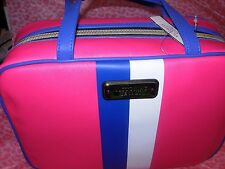 Victoria's Secret Travel Case Cosmetic Bag w/small bag Duo NEW! Blue/Pink/White