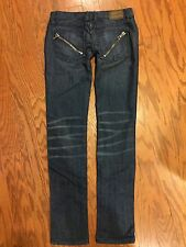 Frankie B Slim Skinny Jeans Zipper Pocket Size 2 * 2 4 25 26 * 2x31 * Distressed