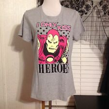 MIGHTY FINE SHIRT SIZE Xlarge MARVEL HEROES IRONMAN I Only Kiss Heroes NWOT