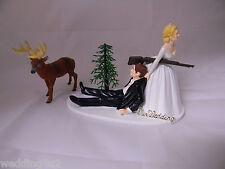 Wedding Party Reception Deer Hunter Sign Redneck Hunting Cake Topper
