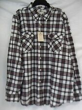Club Room Size XXL Parchment Fitted Plaid Long Sleeve New Mens Dress Shirt