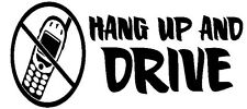 Hang Up And Drive- Window sticker Car RV Hunting Truck Fun Outdoor Vinyl Decal