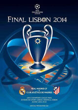 UEFA CHAMPIONS LEAGUE FINALE programma 2014 Atletico Madrid V REAL MADRID