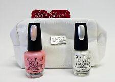 OPI Nail Polish LET'S ELOPE Rosy Future + Kyoto Pearl + Bag .5oz/15ml Combo