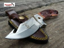 "8"" Fixed Blade GUT HOOK KNIFE BC-851 Burnt Hunting Bone Collector Leather Sheath"