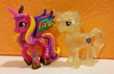New Loose 2 Inch Figures Rainbowfied Princess Cadance & Glitter Shinning Armor