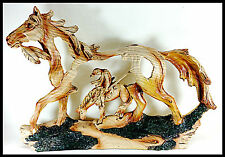 "Horse and Rider Western Sculpture ""End of Trail"" Home Decor"